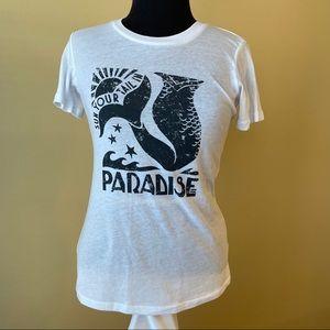 Billabong White & Black Mermaid Short Sleeve Shirt
